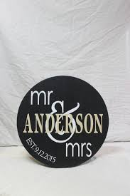 wooden family name sign personalized wooden circle sign for