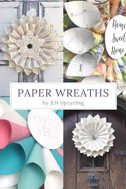 check out our collection of paper wreaths and sustainable home