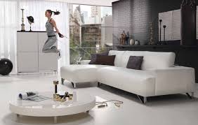 Leather White Sofa Interior Living Room Cream And Black Leather Sofa On Brown