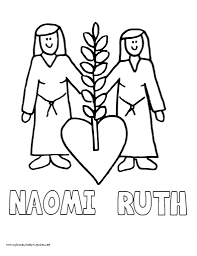 ruth and naomi coloring page pertaining to really encourage to