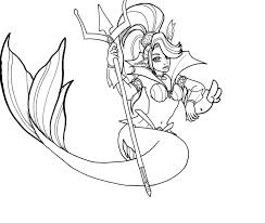 summoners war awakened mermaid coloring page by decadenceart on