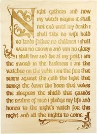 game of thrones inspired night watch oath wooden wall decor plaque