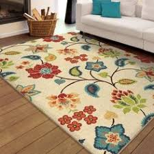 Bright Colored Area Rugs Sunny Garden Floral Rug Www Countrydoor Com Area Rugs By