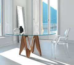 Glass Circular Dining Table Contemporary Glass Dining Tables Glassdomain Uk Glass Specialists