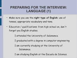 esl job interview