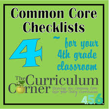 4th 5th and 6th grade common core checklists by the curriculum