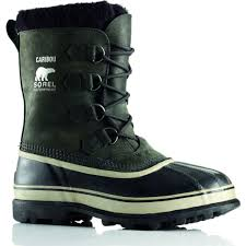 sorel men u0027s caribou waterproof snow boots in black u0026 tusk sportique