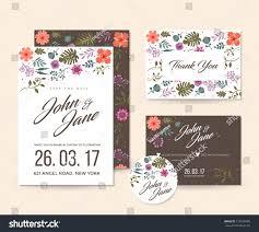 modern save date floral wedding invitation stock vector 715289200