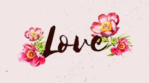 love desktop background wallpapers pink watercolors flowers love desktop wallpaper templates by canva