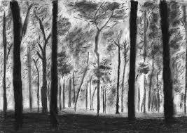 landscape drawing of a forest by jurrellgraham on deviantart