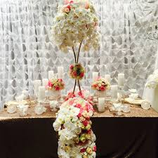 Wedding Centerpiece Stands by Decoritevents Gold Floral Stands Filled With Roses And