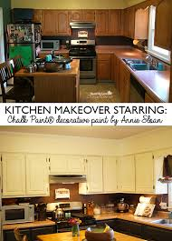 Old Kitchen Cabinet Makeover Kitchen Cabinet Makeover With Chalk Paint Decorative Paint By