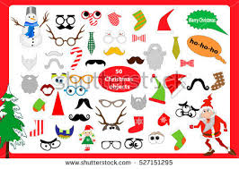 Christmas Photo Booth Props Cristmas Photobooth Vector Prop Set Download Free Vector Art