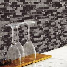 simple manificent stick on backsplash find the best peel and stick