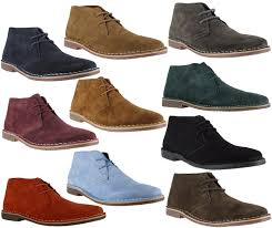 red tape gobi mens genuine suede lace up casual desert boots