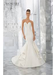 mermaid wedding mori 5563 merci marcella satin mermaid wedding dress ivory