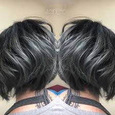 shag haircut brown hair with lavender grey streaks 10 short grey hairstyle new medium hairstyles beauty