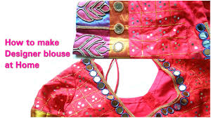 how to make designer blouse at home mirror work blouse design how to make designer blouse at home mirror work blouse design