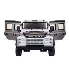 land rover silver rover defender 12v electric licensed ride on kids car with remote