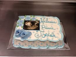 baby shower cake with sonogram edible image baby shower cakes