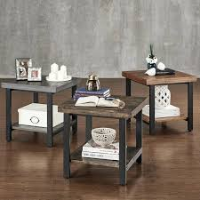 livingroom end tables rustic end tables for living room zoom rustic living room