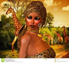 african american woman in leopard print fashion with beautiful