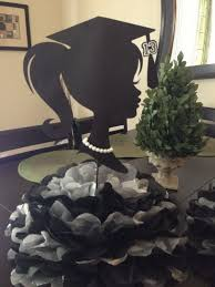 25 diy graduation party decoration ideas silhouette pom