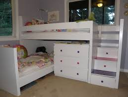 Bunk Beds With Dresser White Loft Bed With Dresser Underneath Building Loft Bed With