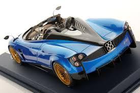 blue pagani pagani huayra roadster 1 18 looksmart models