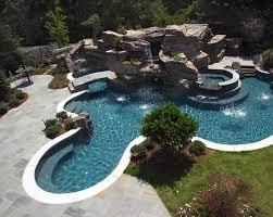 backyard pool ideas with slides backyard fence ideas