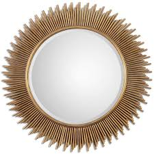 Classy Mirrors by Palermo Antique Gold Round Mirror 36