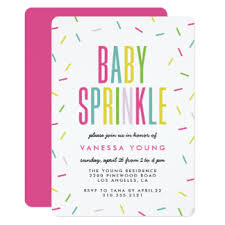 what is a sprinkle shower baby sprinkle invitations announcements zazzle