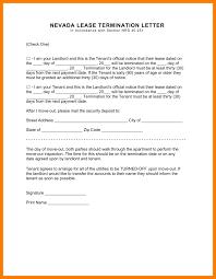 Contract Termination Notice 11 Renters Agreement Letter Park Attendant
