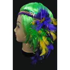 mardi gras headbands mardi gras headband with flower accent 1