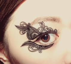 henna eye makeup temporary tattoo makeup applique venetian lace mask