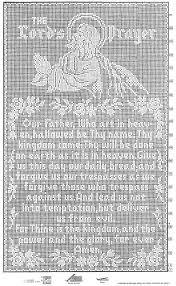the lord u0027s prayer filet crochet wall panel 703 crochet patterns