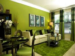 Lime Green Dining Room Gree Wall Modern Green Decorate Lamp With Black Sofas Beside