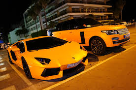 orange range rover part 1 epic orange duo lamborghini aventador u0026 range rover