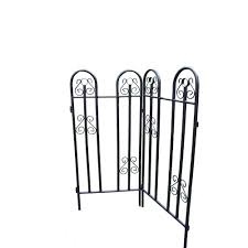 Oakland Landscape Supply by Oakland Living 48 In Metal Garden Fence 2 Piece 5022 Hb The