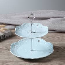 two tier cake stand blue ceramic plates 2 tier cake stand for wedding cakes fruits