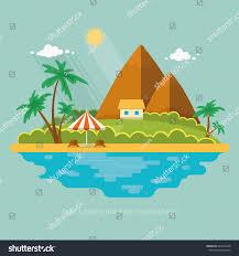 summer paradise ocean landscape beautiful island stock vector