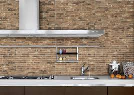 Faux Brick Kitchen Backsplash by Awesome Kitchen Brick Wall Tiles Photos Home Decorating Ideas