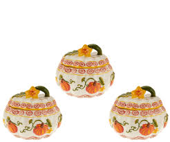 Pumpkin Soup Tureen And Bowls by Temp Tations Set Of 3 Bakers Choice Of Pumpkin Harvest Page 1