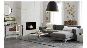 Sectional Gray Sofa District 2 Sectional Sofa In Sectionals Reviews Cb2