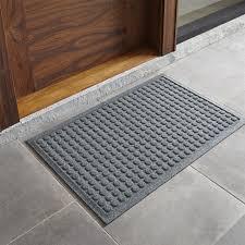 Fun Doormat Thirsty Dots Grey Doormat Crate And Barrel