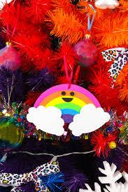 diy rainbow ornaments brite and bubbly
