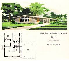 lakeside village mcm ranch mid century modern dream house plans