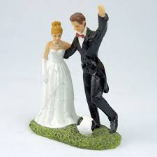 wedding cake toppers theme soccer theme and groom wedding cake topper ewft091 as low as