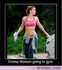 Gym Birthday Meme - emma watson going to the gym and with a book too b for bel