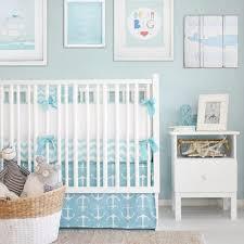 Nautical Crib Bedding Anchors Away In Aqua Nautical Crib Bedding Collection And